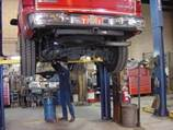 Mechanic working on truck